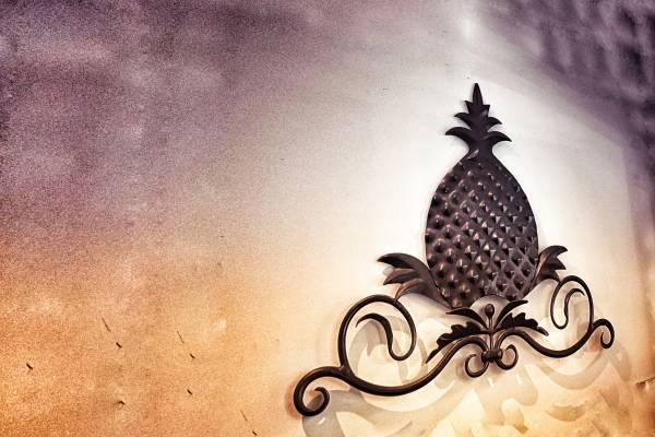 This is an image of a pineapple - believed to be a sign fortune