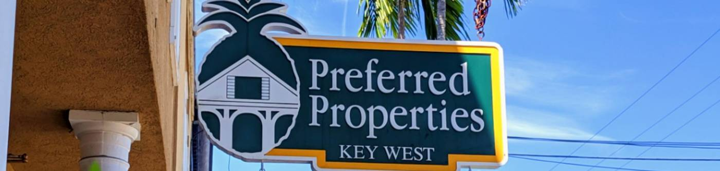 Preferred Properties Sign at the front of their office.